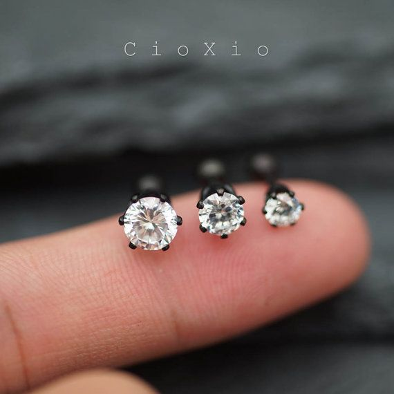 triple helix earring cartilage earring tragus earring by CioXio