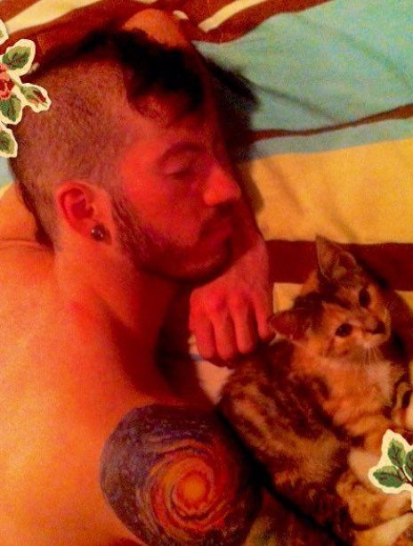 Josh and cats.  Okay. New fave