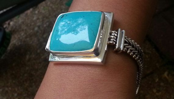 EXEX by Claudia Agudelo  Sterling Silver by SilverStarrs925, $90.00: Turquoise Bracelet