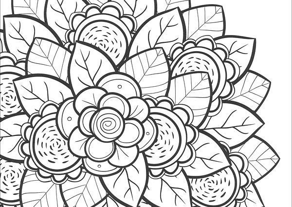 Flower Coloring Pages For Teens See the category to find more ...