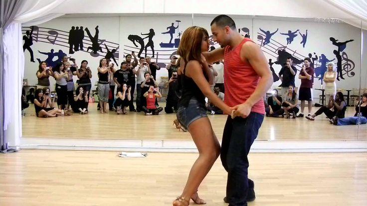 Que Rico Dance Co. Jorge Contreras & Serena Cuevas Toby Love Casi Casi dancing a sexy bachata.