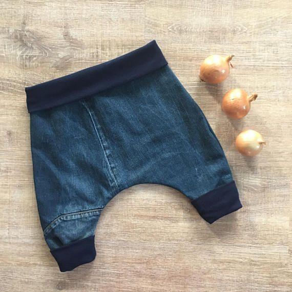 Sarouel Pour Bebe Taille 12 Mois Faites Avec Des Tissus Recycles Jeans Pour Bebes Garcon Ou Fille Pantal Jeans Pour Bebe Sarouel Pour Bebe Pantalon Jogging