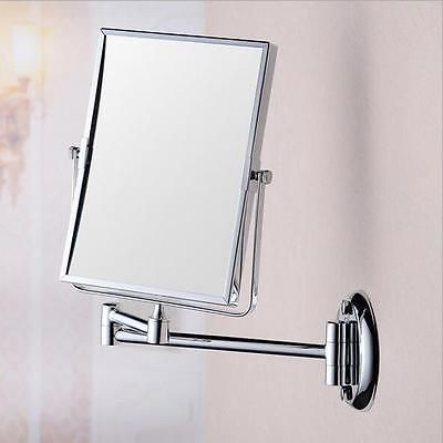 8inch Two-Sided Swivel Wall Mount Mirror with 3x Magnification Make up Mirror