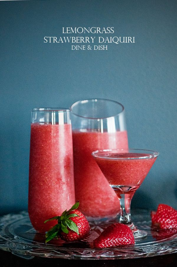 Lemon Grass strawberry daiquiri   http://thegardeningcook.com/7-days-of-cocktails/