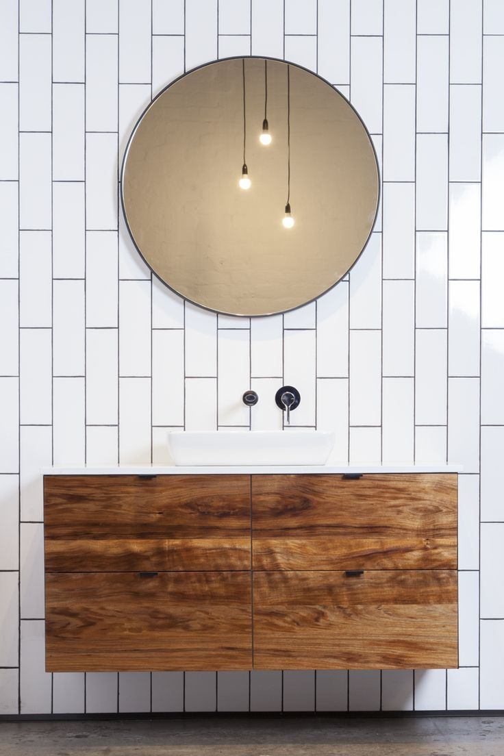 White tiles and black fixtures?