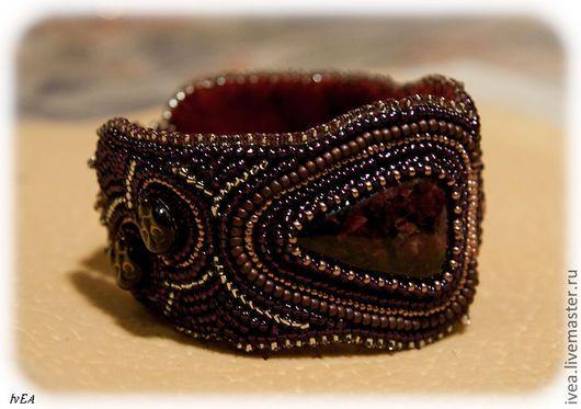 Браслеты ручной работы. Заказать Браслет Венецианская маска. Маяк. Ярмарка Мастеров. Браслет из бисера, эвдиалит #ElenaIvanovaIvEA #Jewellery #Beads #Gemstones #HandMade #Accecories #ElenaIvanovaIvEAHandMadeProjects
