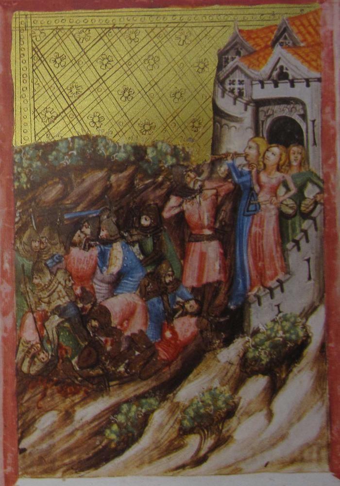 Manuscript ONB Cod. Vindobonensis 2762 Wenzel Bible Folio 15v Dating 1389 From Deutschland (exact location unknown)