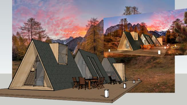 Forest Glamping Mod By Damijan Koprivc Glamping Camping Cabin Log Cabin Damijan Koprivc Modern K2modul Mobile Ho Triangle House Glamping A Frame House