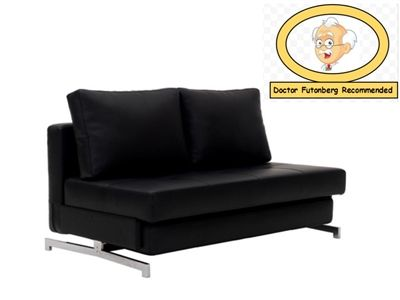 K43-2 Convertible Queen Size Armless Loveseat Sofa Bed by J&M