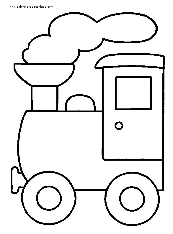 Train color page transportation coloring pages, color