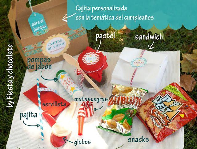 Cajita de picnic para los cumples en el parque.