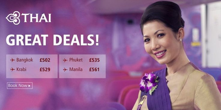 Exclusive offer on Thai Airways flights, Book here - http://www.brightsun.co.uk/airlines/thai-airways