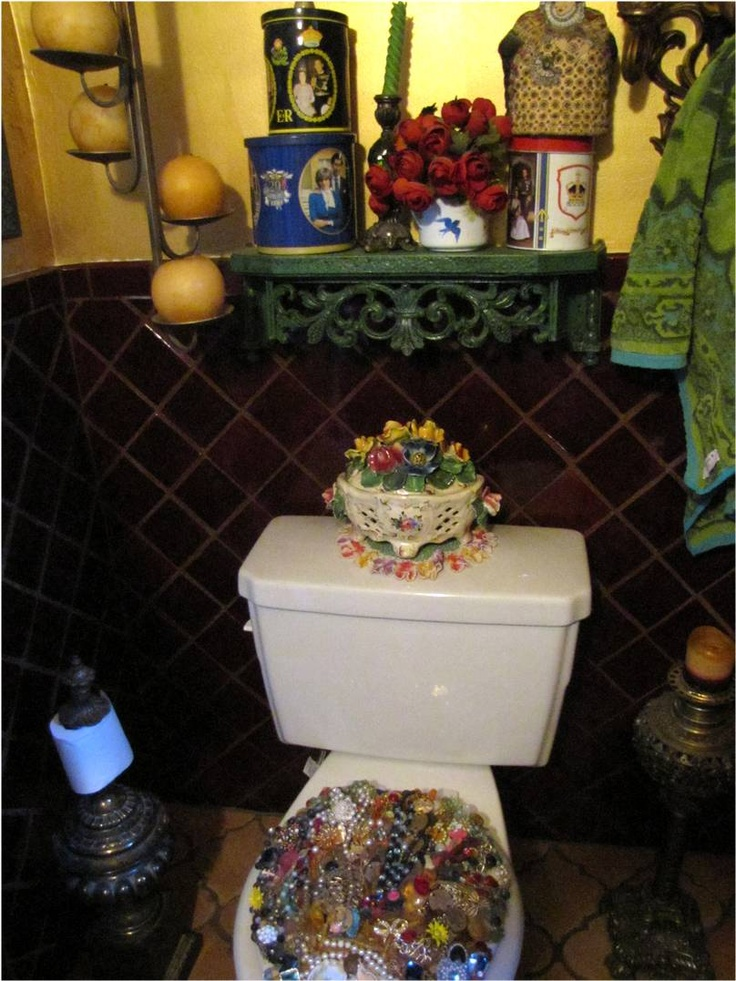 Jewel Encrusted Toilet Seat? How Much Fancier Can You Get. Gypsy  DecorBohemian GypsyBohemian BathroomToilet ...