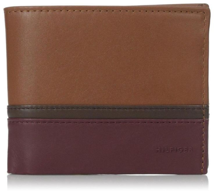 NEW TOMMY HILFIGER MEN'S LEATHER BIFOLD WALLET ID CARD SADDLE OXBLOOD 31TL13X041 | Clothing, Shoes & Accessories, Men's Accessories, Wallets | eBay!