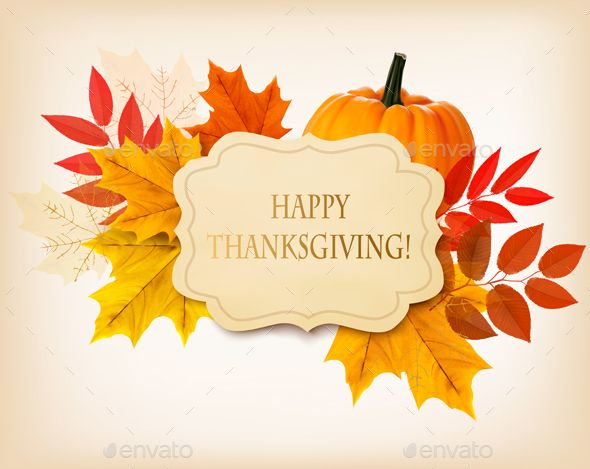 Happy Thanksgiving Background Vector EPS. Download here: https://graphicriver.net/item/happy-thanksgiving-background/13746357?ref=ksioks