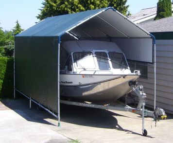 78 best diy build your own rv or boat portable carport for Boat garage kits