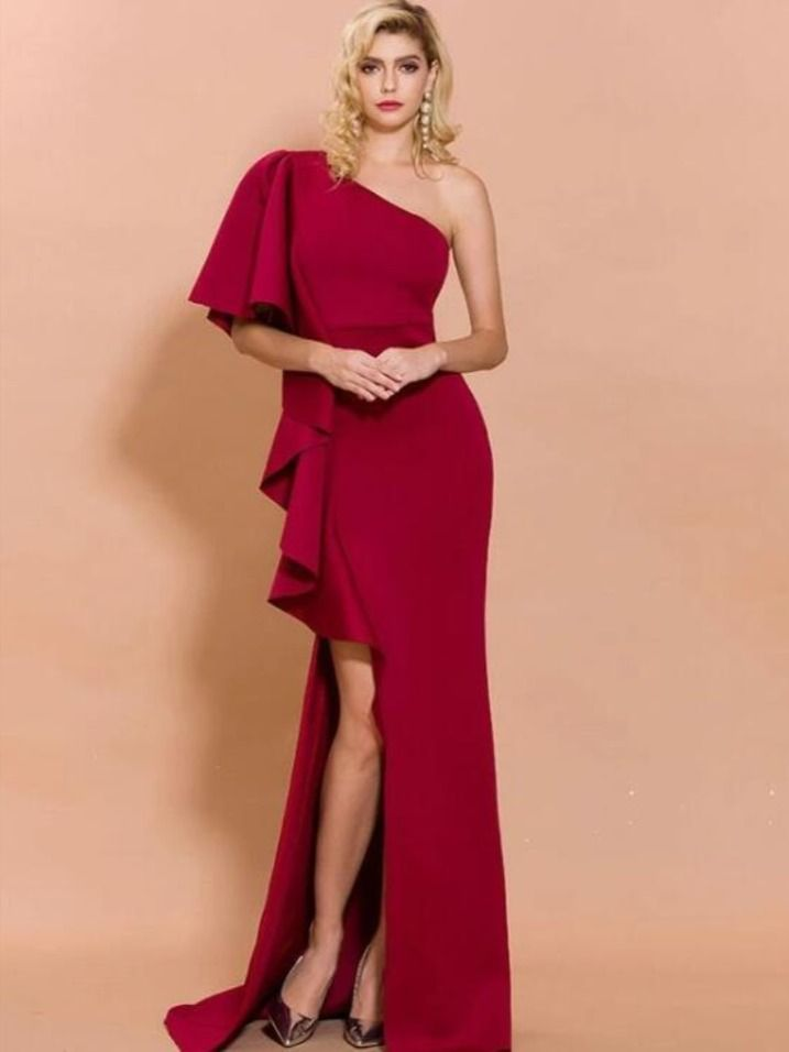 Wine Evening Dress – Fashion dresses