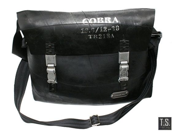 Recycle rubber industrial shoulderbag by TSRUBBERBAGS on Etsy, $177.00