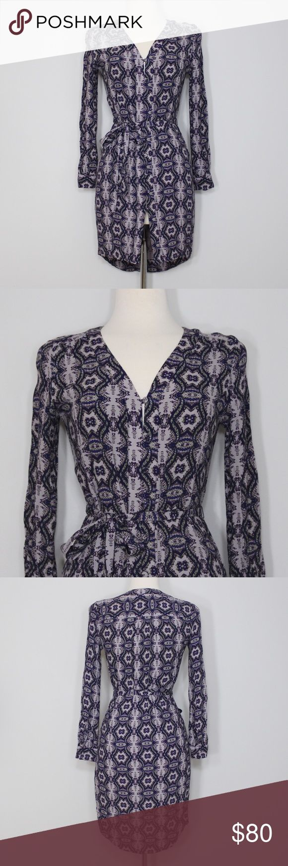 Charlie Jade Purple Print Button-Up Dress A beautifully chic dress that's in great condition! No slip attached underneath but would be super cute worn as a tunic with leggings and boots! No holes, stains or imperfections. Comes from a smoke free environment. Measurements to be added. Nordstrom Dresses