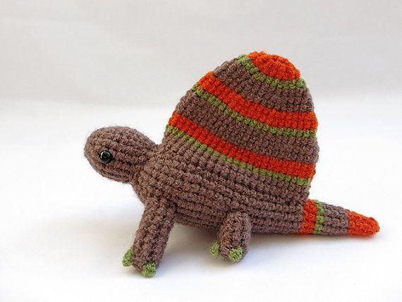 Crochet Dinosaur PATTERN BUNDLE 1 Amigurumi Dimetrodon by MevvSan