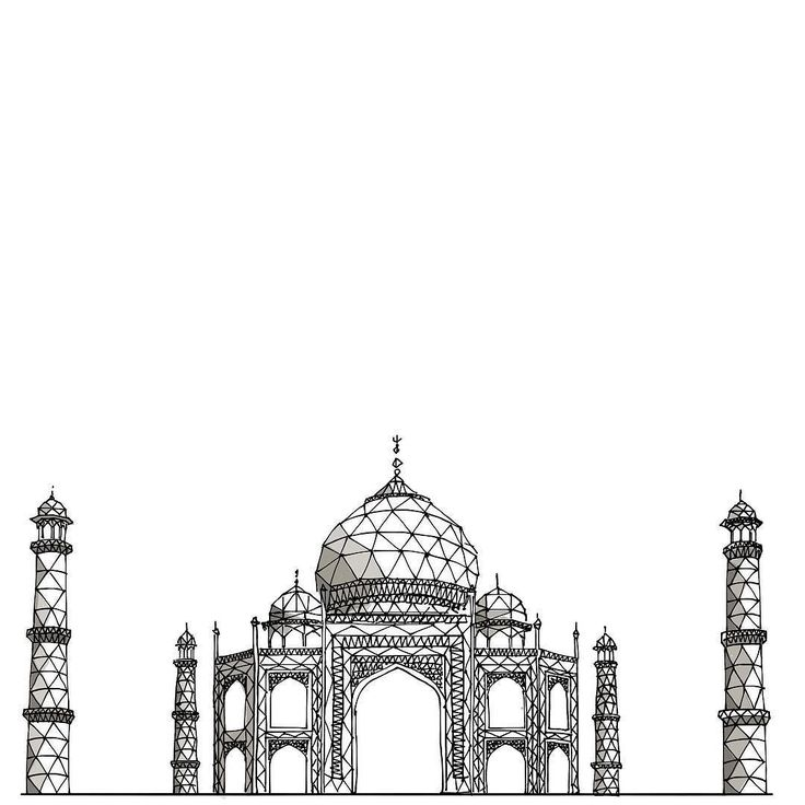 Best 25 taj mahal drawing ideas on pinterest india art for Taj mahal exterior design