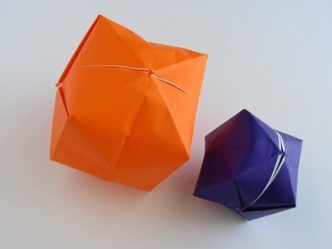 """Origami Water Balloon -- Use as """"Pig Bladder Ball"""" to go along with Little House in the Big Woods"""