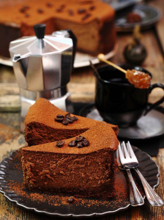 Sernik czekoladowy z kawą  #słodkości #smakołyk #deser #przepisy #energia #ciasto #sernik #kawa #czekolada #POLOmarket