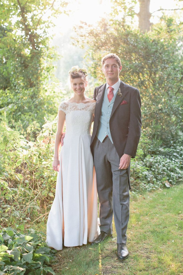 Groom wears a traditional morning suit | Photography by http://rosieanderson.co.uk/