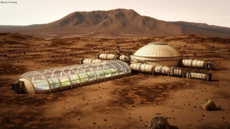 Mars space habitat conceptual design image by Bryan ...