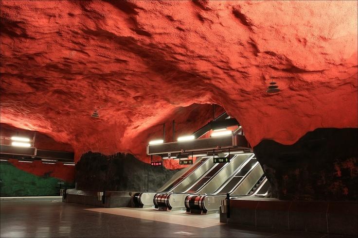 Stockholm metro - Solna centrum station - Stockholm - Sweden