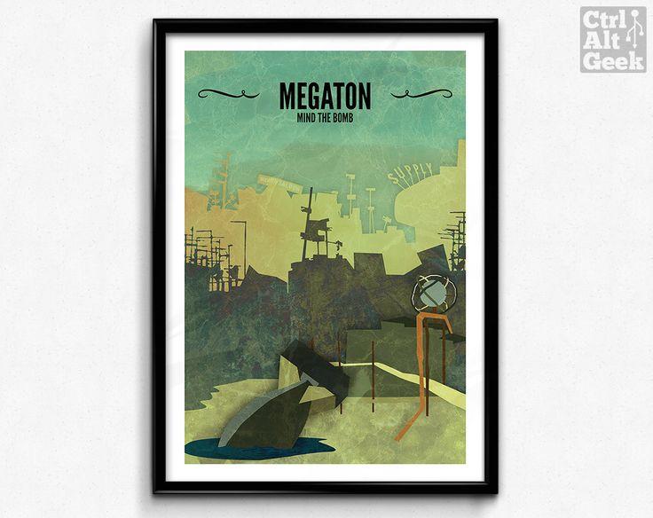Megaton // Fallout 3 Poster, Fallout Print. $24.57