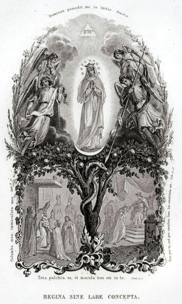 55.LITANIE LAURETANE: SS VERGINE MARIA.MADONNA.Religione.Acciaio.Capolavoro.1850