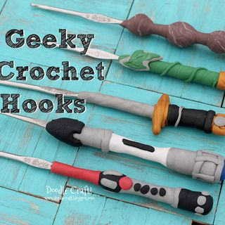 Geeky Crochet Hooks!  Made with Polymer Clay!  http://www.instructables.com/id/Geeky-Crochet-Hooks-Made-with-Polymer-Clay/?ALLSTEPS
