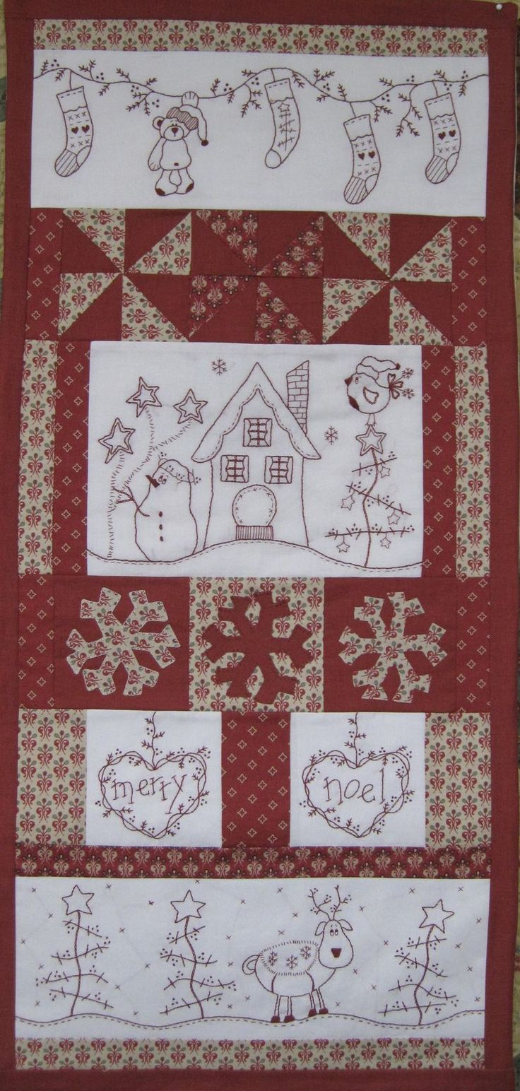 Merry noel from fig n berry creations...so cute! stitchery