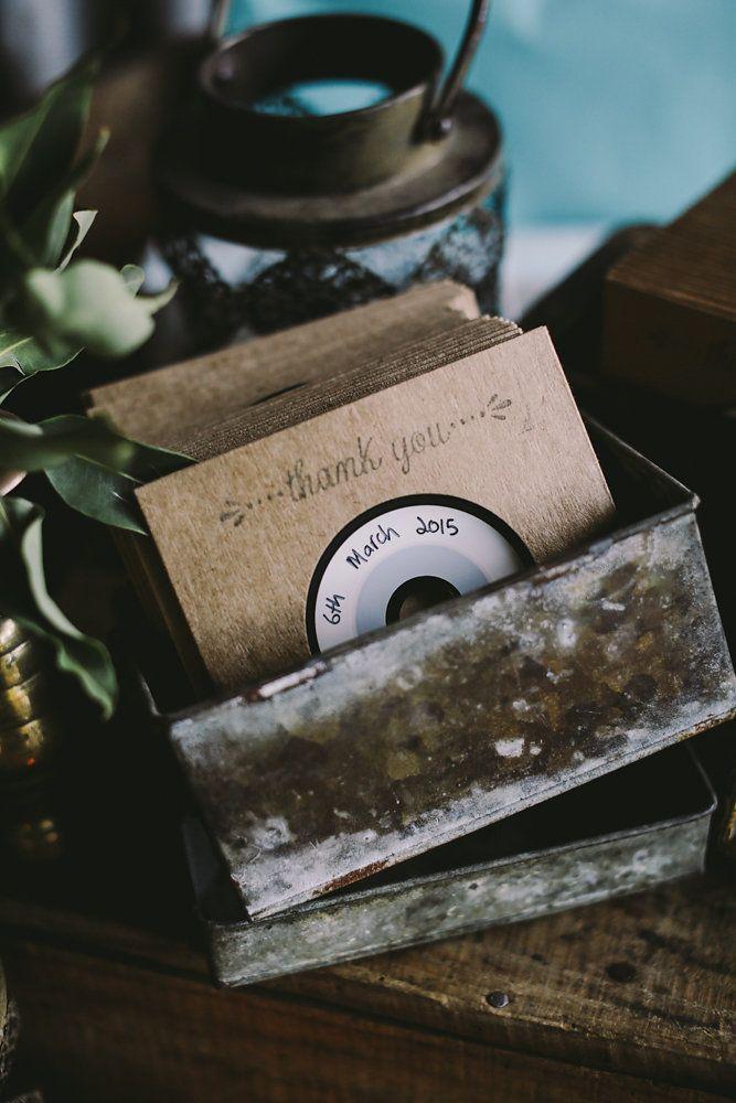 Best DIY wedding details of 2015 / mix tape wedding favours