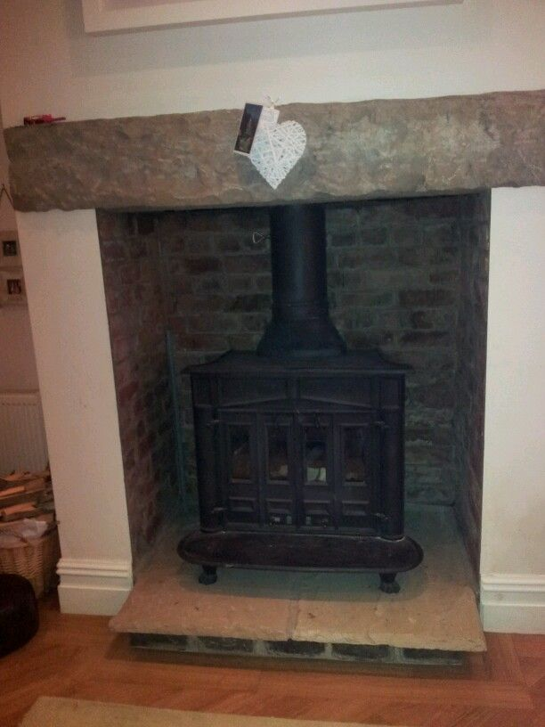 High Lintel. Similar to how our fireplace would look with a lintel added