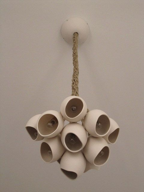 Porcelain cluster hanging light cluster of 11 by farrahsit on Etsy, $850.00