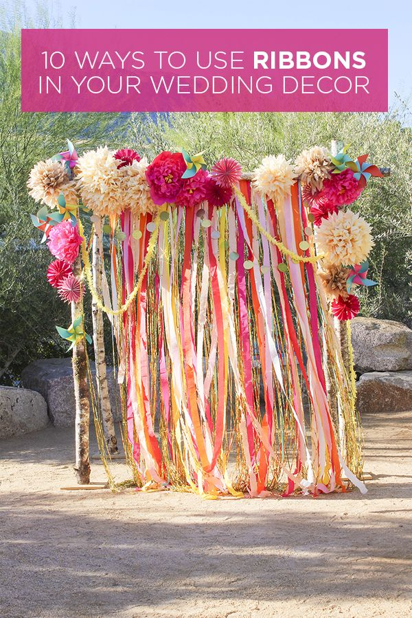 Decor Advice: 10 Ways to Use Ribbons in Your Wedding Decor {via Project Wedding}