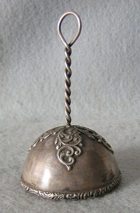 Antique Sterling Silver Dinner Bell