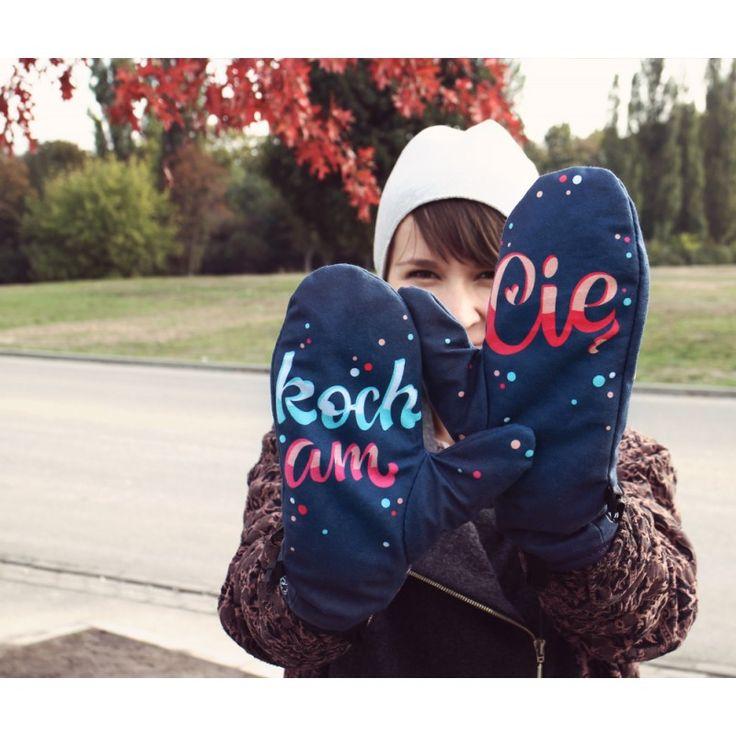 Rękawiczki Cherrish Kocham Cię / I love you gloves - polscy projektanci / polish fashion designers - ELSKA