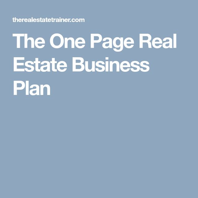 The  Best Real Estate Business Plan Ideas On   Real