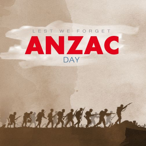 Lest We Forget #ANZACDAY