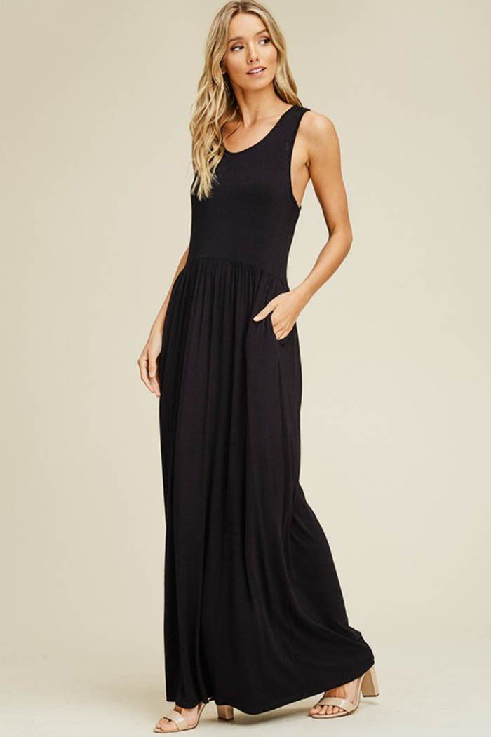 19242ba57db Shelley Essential Maxi Dress   Black – GOZON Boutique