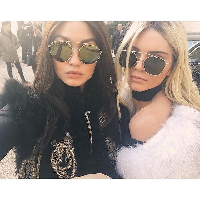 Kendall And Gigi Swap Hair Colour On The Runway At Balmain