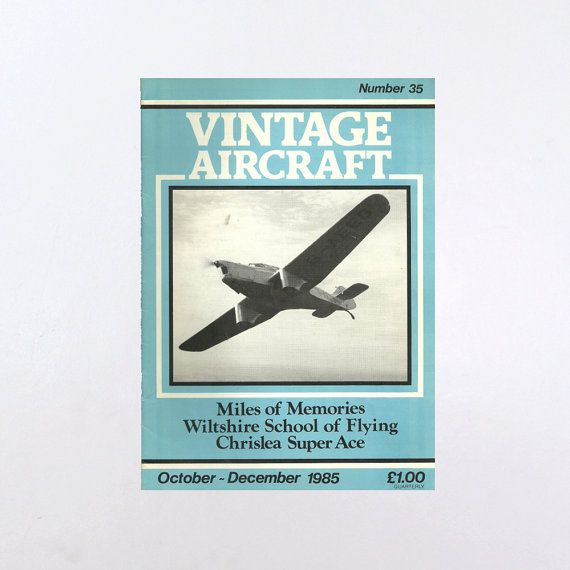 New in The Book Cottage: Airplane Magazine | Vintage Aircraft Magazine 35 October - December 1985 | Retro Aviation Booklet | Vintage 80s Fly Planes Aqua Blue Cover by TheBookCottage
