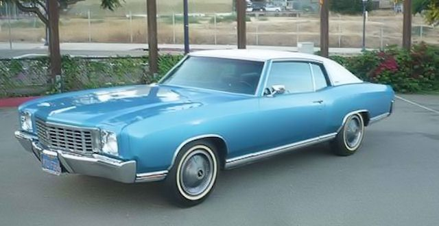 24 A Ascot Blue White Vinyl Top Chevrolet Chevrolet Monte