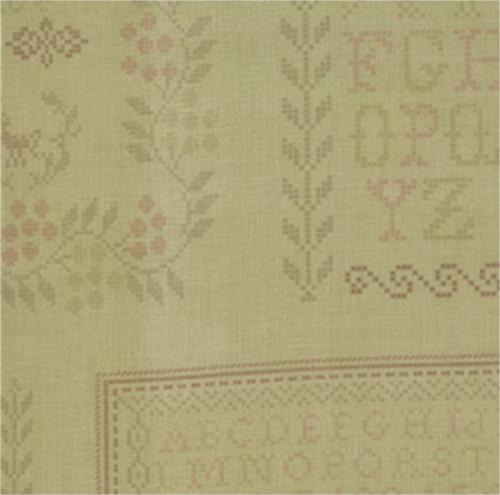 17 migliori immagini su cross stitch fabric prints su for Garden party fabric by blackbird designs