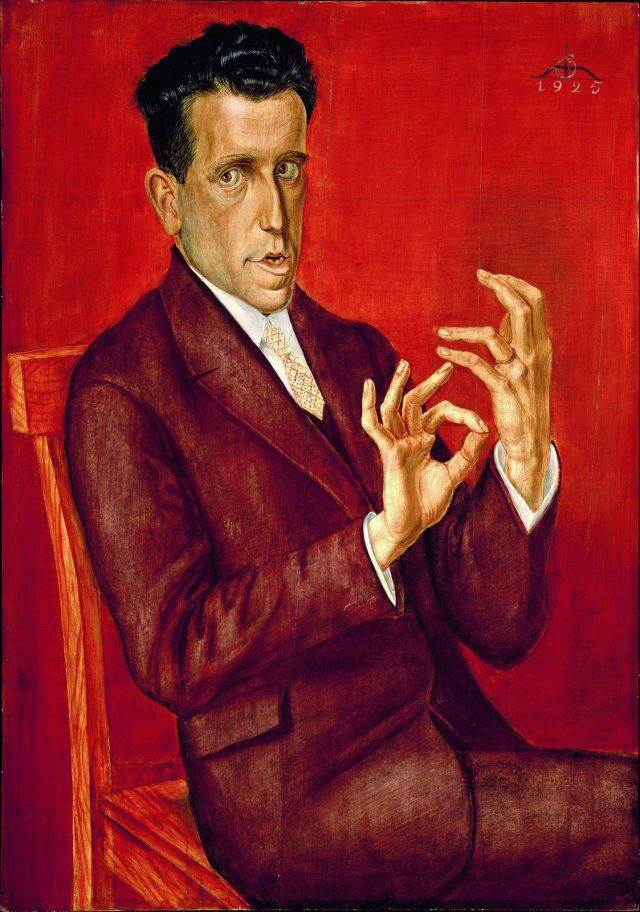 Otto Dix (German, 1891-1969) Portrait of the lawyer Hugo Simons, 1925. Oil and tempera on canvas, 100,3 x 70,3 cm. Montreal Museum of Fine Arts