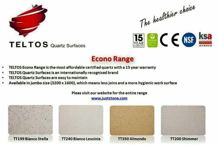 Teltos quartz Ideal for kitchen counter tops, bathroom vanaties, wall cladding