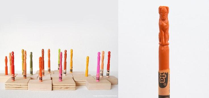 Diem Chau Crayon Sculptures | Abduzeedo | Graphic Design Inspiration and Photoshop Tutorials